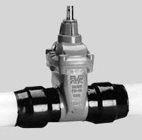 Задвижка AVK для газа с ПЭ патрубками. Серия 36/90