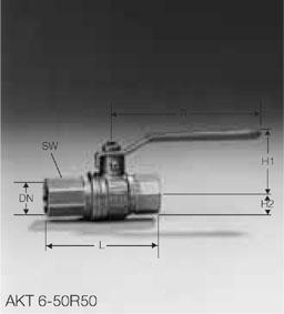 Кран газовый AKT 6-50R50