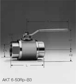 Кран газовый AKT 6-50Rp-B3